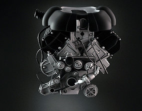 3D model engine and gearbox