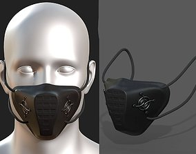 Gas mask respirator military combat 3d VR / AR ready