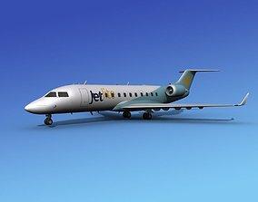 Canadair CRJ200 JetLite 3D model