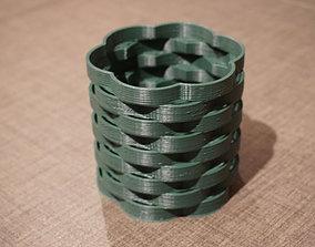 Basket weave vase 3D print model