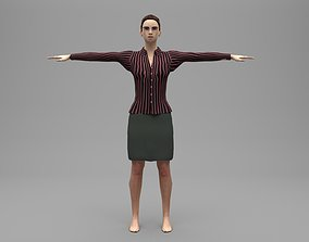 Female administration 3D asset