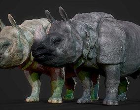 3D model Indian Rhinoceros