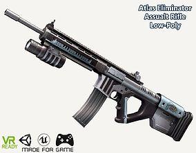 Atlas Eliminator Assault Rifle Gun Low Poly 3D model