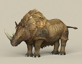 3D model Game Ready Ice Age Rhinoceros