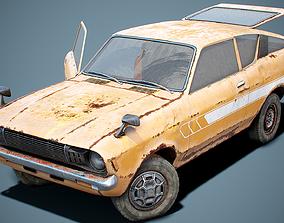 3D asset Old Classic Coupe Set 2