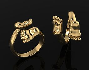 3D printable model Ring Baby legs 145