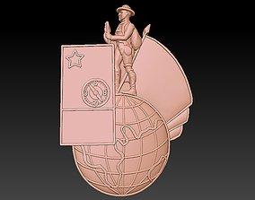 3D print model Badge Man traveler tourist