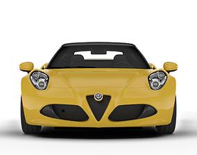 3D asset Alfa Romeo 4C Spider roadster