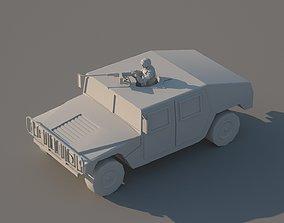 Humvee Low-poly 3D model humvee VR / AR ready