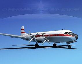 3D model Douglas DC-7C Zantop