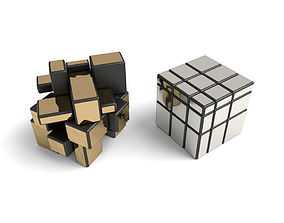 3D model Mirror cube 3x3x3 puzzle toy game