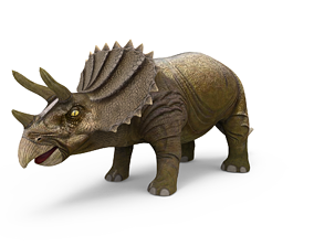 low-poly 3D Triceratops dinosaur low poly