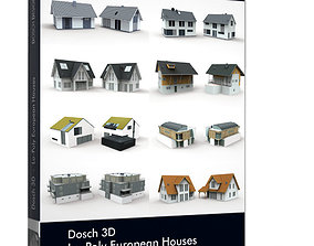 game-ready Dosch 3D - LoPoly European Houses