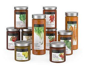 3D Sauce jars