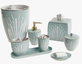 3D model Setai Pale Blue Porcelain Bath Accessories