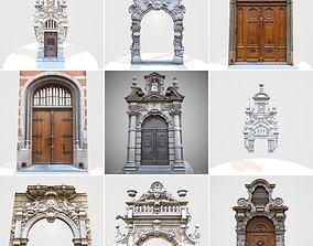 9 Luxury Architecture Entrance Door Collection 3D asset
