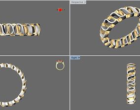 3D printable model Simple wave ring