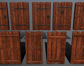 door set 3D asset low-poly