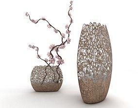 3D asset Classical flower vase