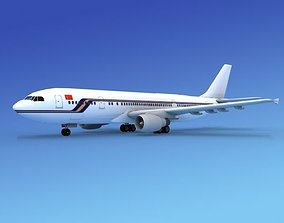 3D model rigged Airbus A300 Air Charter Intl 2