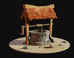 3D model LowPolly Well - Blender - Game Asset