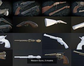 Western Guns 3D model