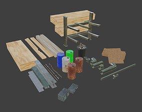 jobsite 3D model realtime Construction Asset pack