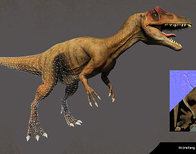 Allosaurus Low Poly 3D Model animated