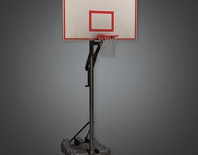 3D asset SAG - Basketball Hoop 01a - PBR Game Ready