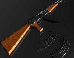 Ak-47 3D model soviet