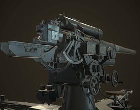 3D asset German Flak Gun 88mm
