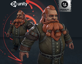 Forest Dwarf 3D asset