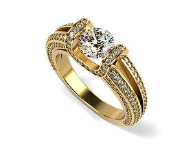 Eight Raws Engagement Ring 3D printable model