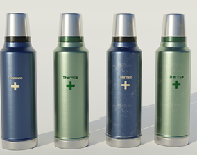 Thermos 3D asset game-ready