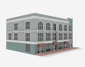 Simple Multi Story Building 3D model