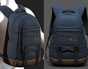 3D asset Backpack bag baggage Color