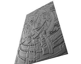 3D print model Panno H R Giger artwork