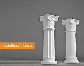 3D Corinthian column 3d