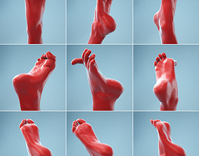 7 Realistic Photoscanned Feet body 3D model