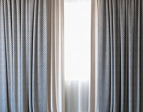 3D Curtains 35 Curtains with Tulle