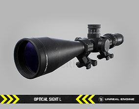 3D model Optical Sight L - FPS Gun Attachment for Unreal