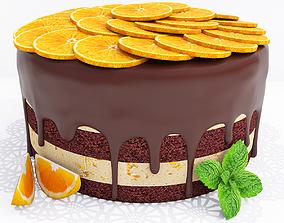 Orange cake 3D