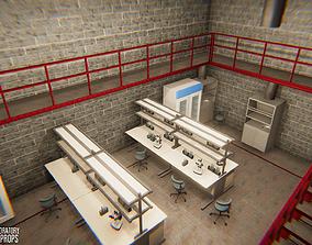 Underground laboratory - interior and props 3D model