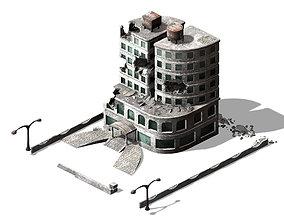 3D The future world - street waste 01