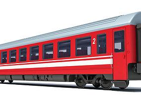 3D model Train Passenger Car V11