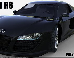 3D asset game-ready r8 AUDI R8