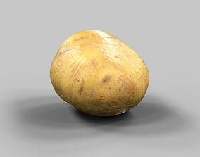 Potato 3D asset low-poly