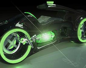 tron inspired bike 3D model