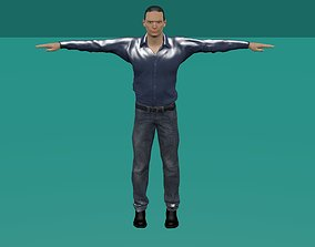 3D asset Low-Poly Male Character