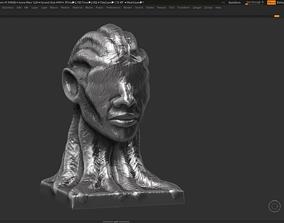 human head modern sculpture 3d print model 98